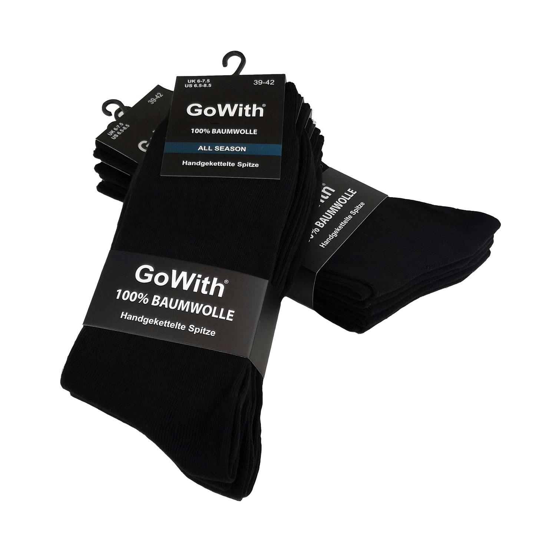 Socken Herren Schwarz aus 100 % Baumwolle - www.printams.de